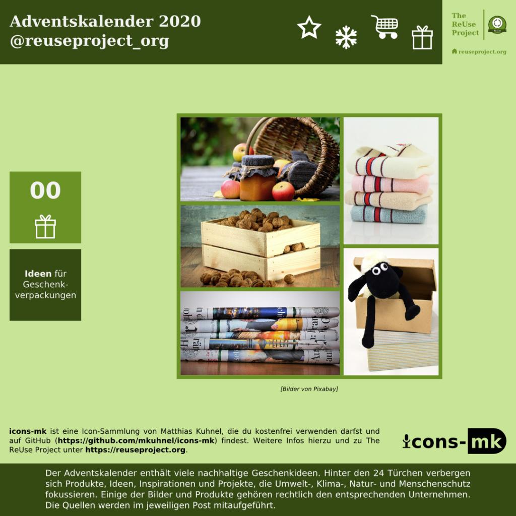 Adventskalender 2020 Ideen für Geschenkverpackungen